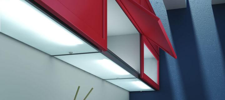 Osvětlení kuchyňské linky a interiéru kuchyně